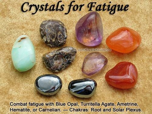 Crystal Guidance - crystals for fatigue