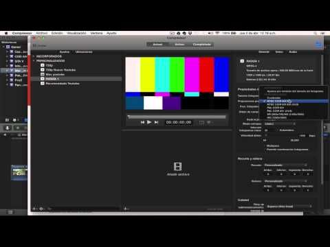 Exportar Videos en HD Final Cut Pro X Compressor - YouTube