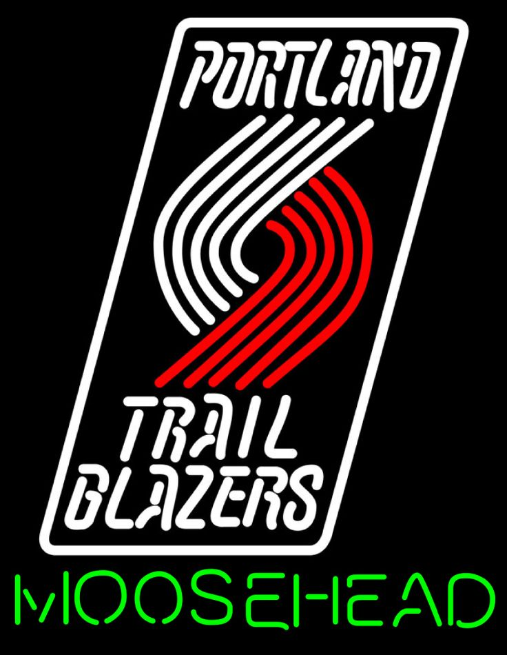 Moosehead Portland Trail Blazers NBA Neon Beer Sign, Moosehead with NBA Neon Signs | Beer with Sports Signs. Makes a great gift. High impact, eye catching, real glass tube neon sign. In stock. Ships in 5 days or less. Brand New Indoor Neon Sign. Neon Tube thickness is 9MM. All Neon Signs have 1 year warranty and 0% breakage guarantee.