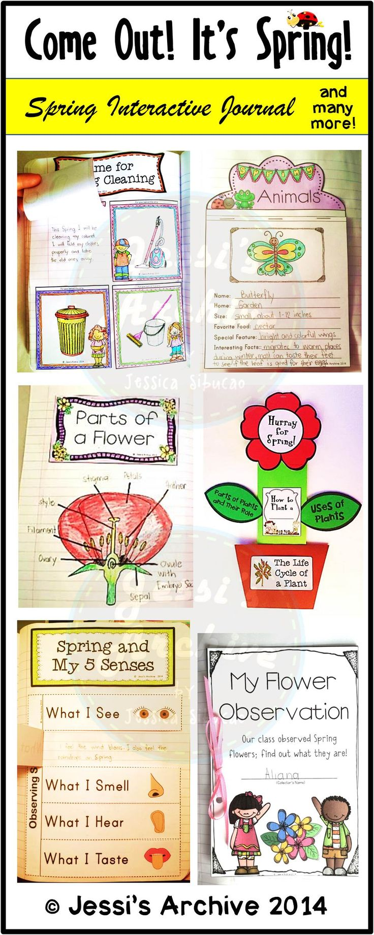 Spring  70 pages   Spring is in the air and we all care   Loaded with 15 supplemental interactive and fun activities for your students  39  journal