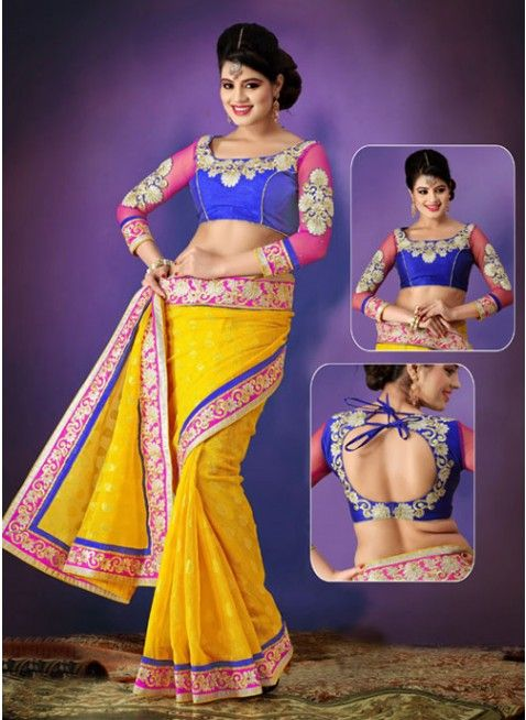 Asthetic Gold color embroidered #saree #designersares #clothing #fashion #womenwear #womenapparel #ethnicwear