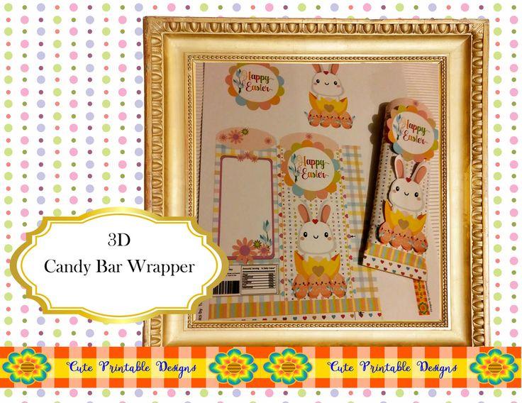 Easter Candy Bar Wrapper,Hersheys   Bar Wrapper, Printable Bar Wrapper, Chocolate Bar Wrapper, Digital, BARWRAPPERPAS-TGH-192 de CutePrintableDesigns en Etsy