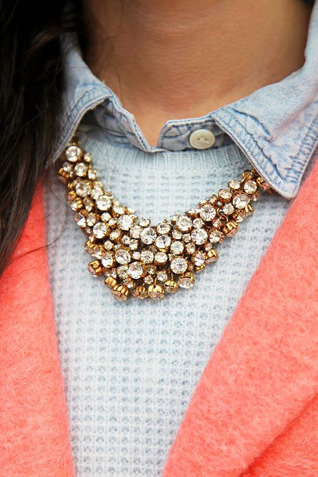 Sparkly necklace | Classy Girls Wear Pearls, January 2014