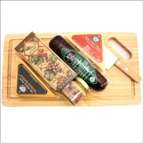 Cheese Board Delights: Cheese & Cracker Gift Basket