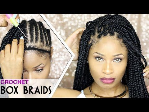 Crochet Hair That Looks Real : How To CROCHET BOX BRAIDS (looks like the real thing! free-parting ...