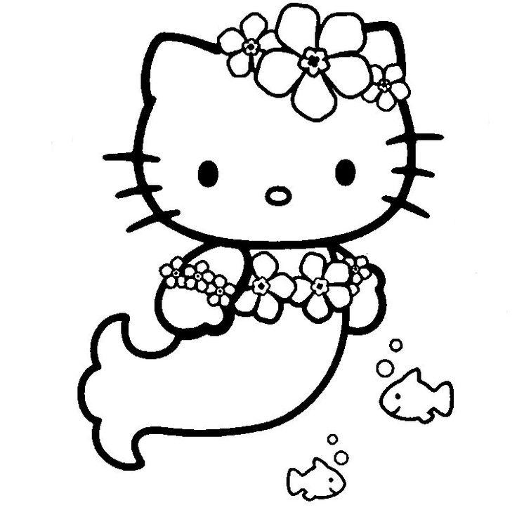 Coloriage Hello Kitty - Les beaux dessins de Dessin Animé à imprimer et colorier