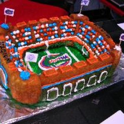 Gators football field Cake
