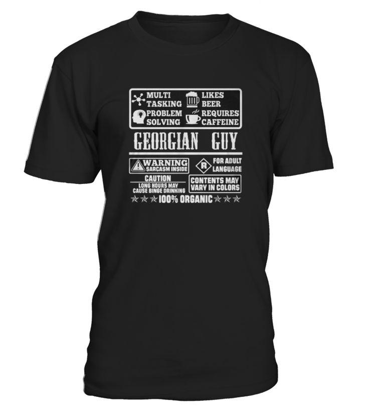 T shirt GEORGIAN GUY 100% ORGANIC T SHIRTS front  Funny Organic T-shirt, Best Organic T-shirt