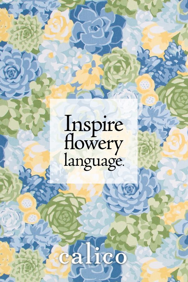 Flowery language was never so inviting Go bold in your garden this