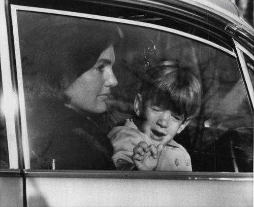 Jackie and John Jr., leaving Dulles Airport.                              …