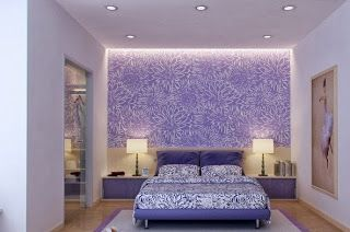 Interior Rumah Minimalis Berwarna Ungu