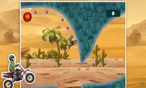 Be the fastest bike rider travel to the dirt track to perform some fun jumps and overcome some extreme obstacles.