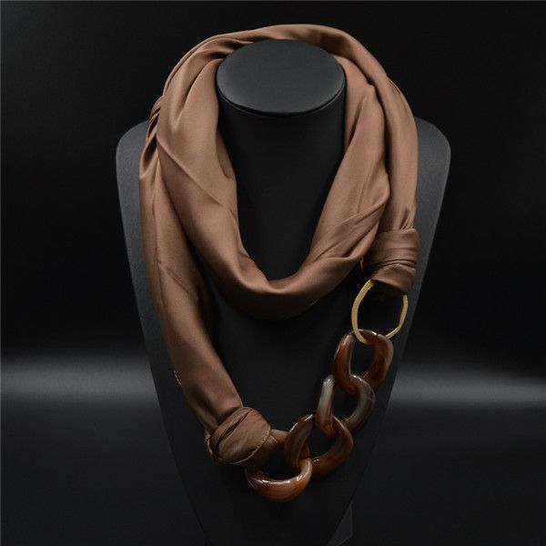 Luxurious Silk Scarf for women. Named after the Goddess Seshat it has a feel of divinity and is simply a treat to your skin. This handmade Scarf Necklace is made with the finest Silk Satin fibers and