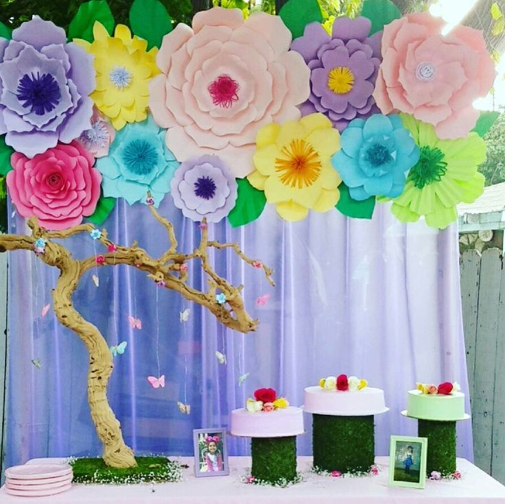 1000 ideas about paper flower backdrop on pinterest for Backdrop decoration for birthday