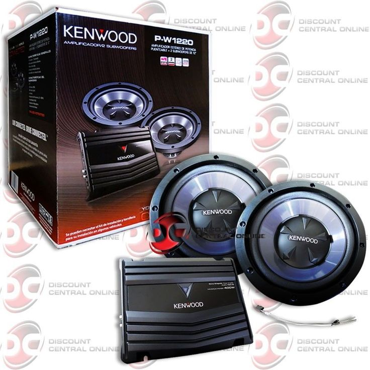 BRAND NEW KENWOOD PACKAGE DEAL CAR AUDIO 2-CHANNEL AMP AMPLIFIER  2 SUB WOOFER