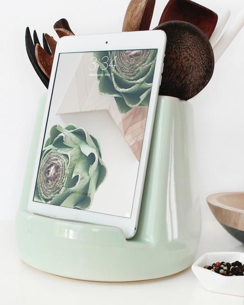 ++ Hey there! This handcrafted Mint Kitchen Dock is currently out of stock and is available for pre-order only. We expect more by early April. Feel free to order now and reserve your dock today. We'll