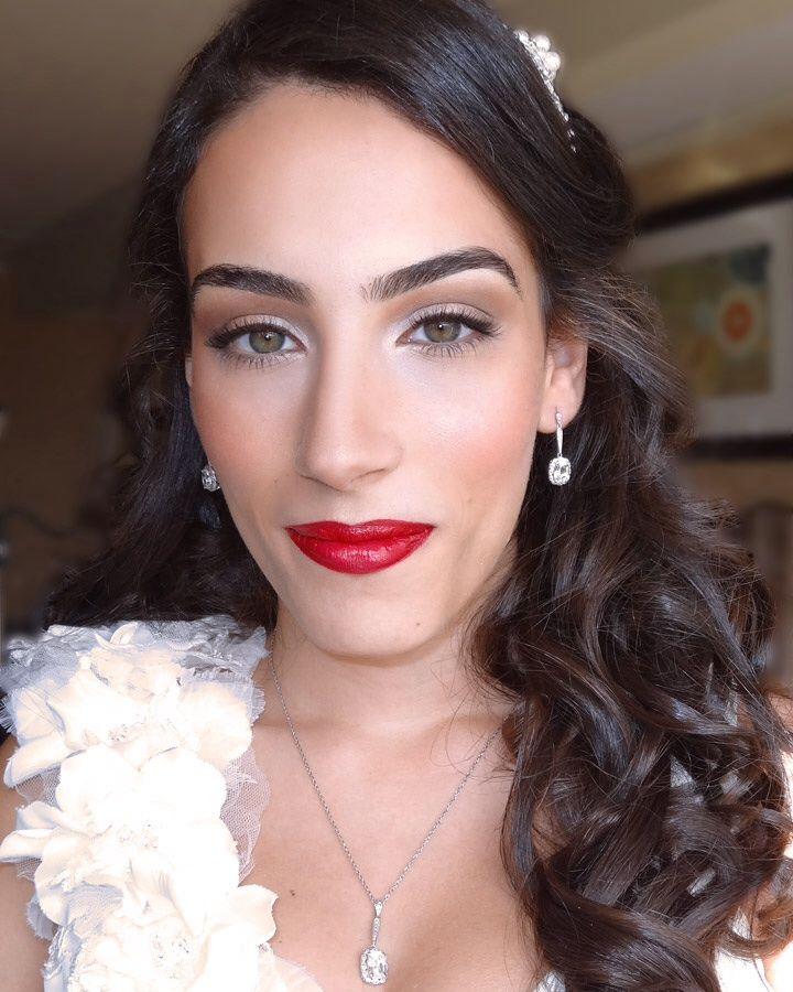 #Wedding makeup #red lips, #retro wedding makeup, #1950's wedding makeup, #red #lips