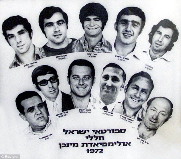 Tragic: A combination photograph shows the 11 Israeli athletes and coaches who were killed during the Munich Olympic Games in 1072