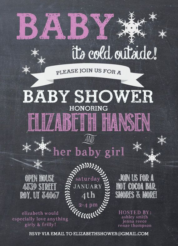 Baby It's Cold outside Baby shower Chalkboard Printable