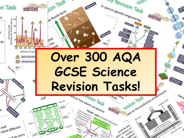 Over 300 AQA GCSE Science Revision Tasks