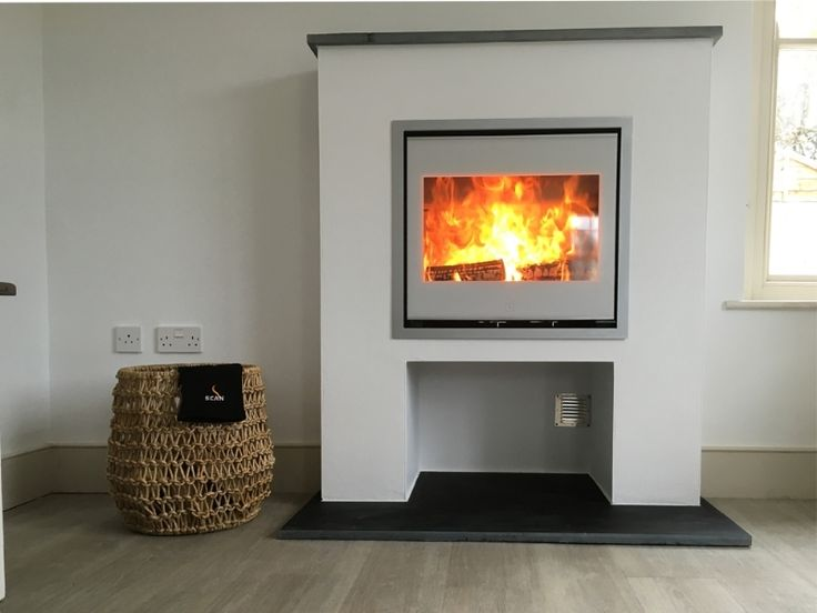 Kernow Fires Scan 1001 in white wood burning stove installation in Cornwall. - 329 Best This Is What I Do! Wood Stoves!! Images On Pinterest