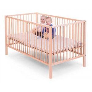 Parc jumeaux en hêtre naturel, assez spacieux pour 2 enfants