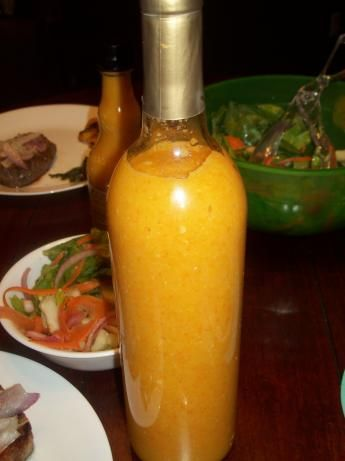 Belizean Style Habanero Sauce - Michael makes it without any fruit, but it is soo delicious!