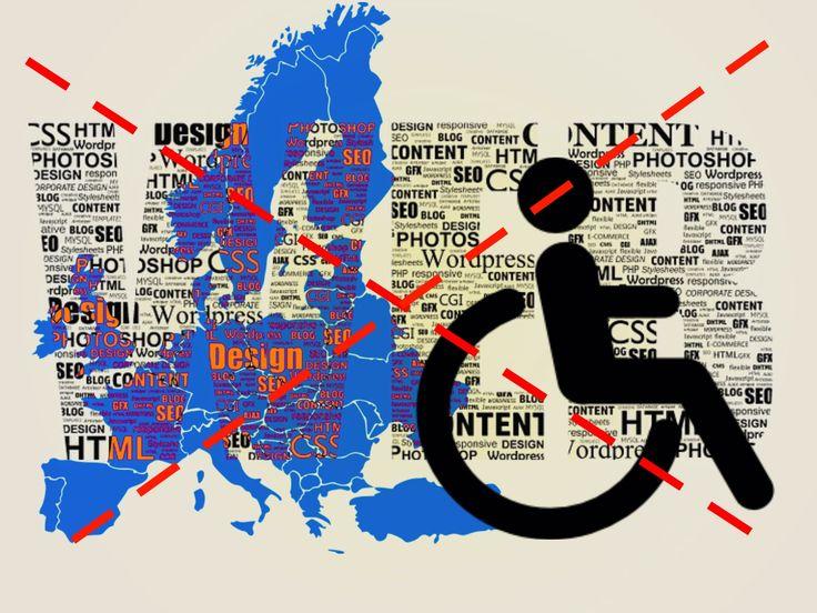"""Nell'era """"net"""", dell'""""e-commerce"""", dell' """"home-banking"""" e del """"selfpublishing"""", 80 mln di cittadini europei disabili esclusi dai siti web…"""