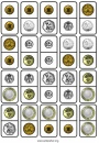 Print sets of 20 coin dominoes for teaching and learning Euro, Australian, US and UK money.