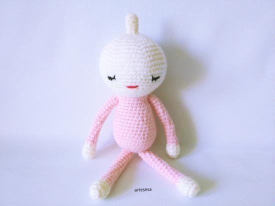 amigurumi un pelo  lana acrílica,relleno de fibra ganchillo,crochet