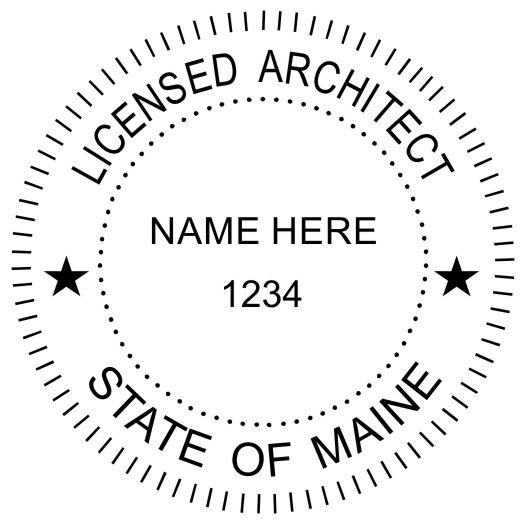 Architects May Order An Embossing Seal Or Inking Stamp But The Typical Size For This Is In Diameter