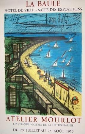 La Baule, Bernard Buffet, vintage travel poster  1979