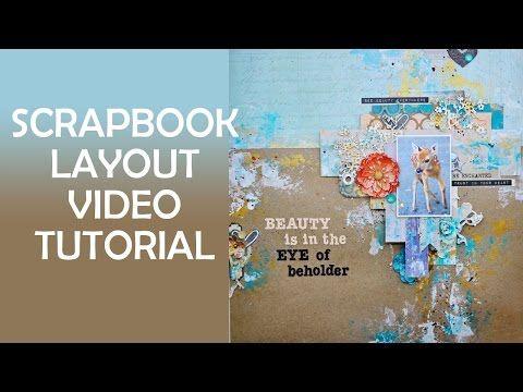 Мастер-класс по созданию скрап странички с использованием акриловых красок - YouTube