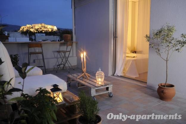 Enjoy the Acropolis view from LIVE IN ATHENS1 Apartment  From 35€ person/night