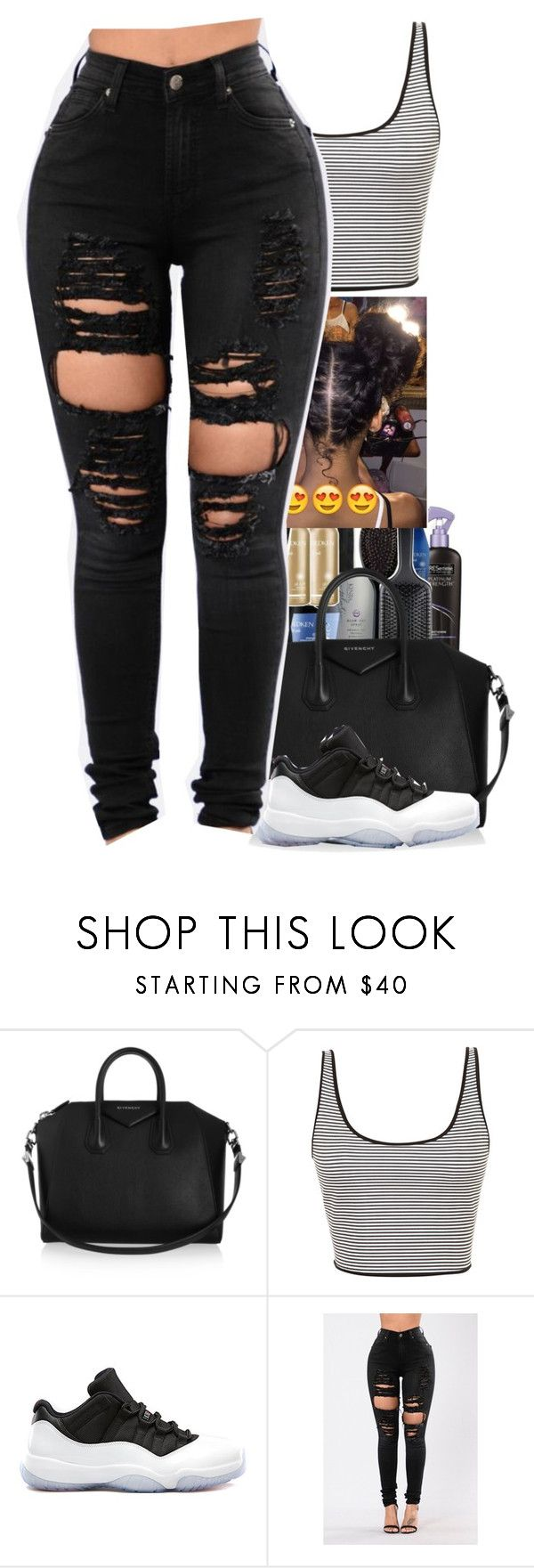 """💙 black doll 💙"" by itstonyee ❤ liked on Polyvore featuring Givenchy and Clover Canyon"