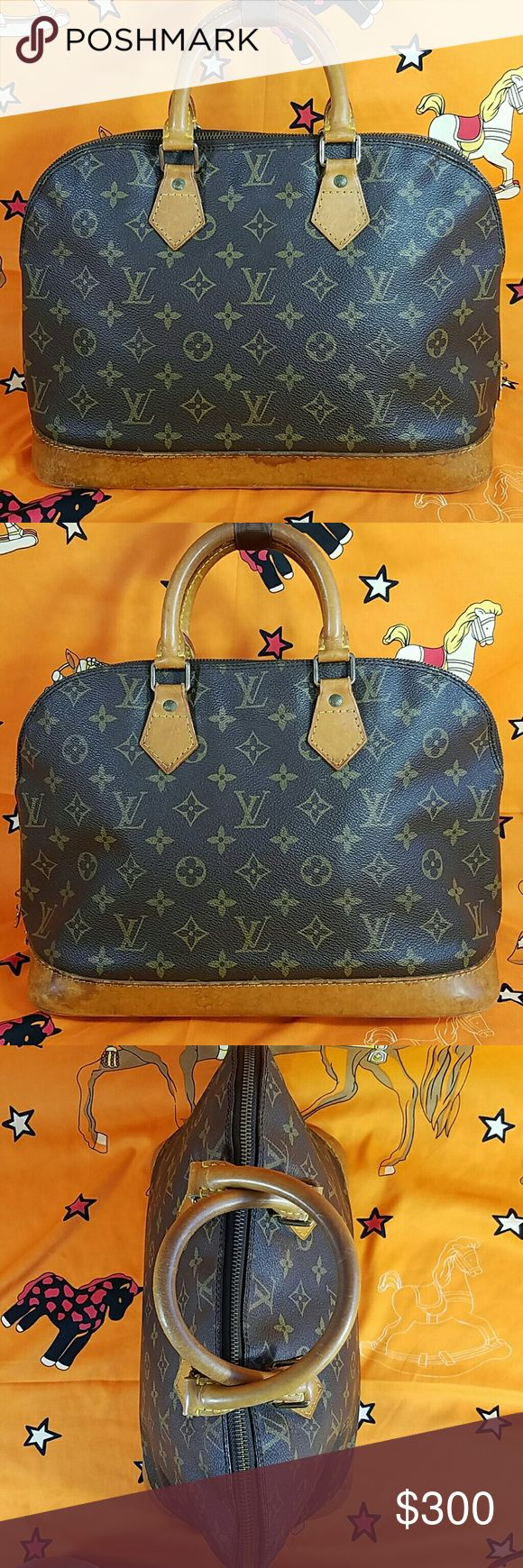 Authentic Louis Vuitton Monogram Emma PM Satchel The canvas is in good condition. The leather trims & handles showed wearing. Inside is nice and clean. Date code VI0943. Dimension 9.5, 14 & 7. It made in France. No trade please. Louis Vuitton Bags Satchels