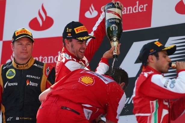 F1 Spanish GP Podium