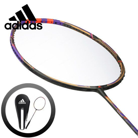 adidas Badminton Racket WUCHT P1 Red Black Racquet String with Cover RK706501 #adidas