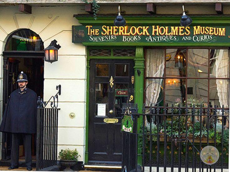 Cenários e Museu de Sherlock Holmes em Londres museu