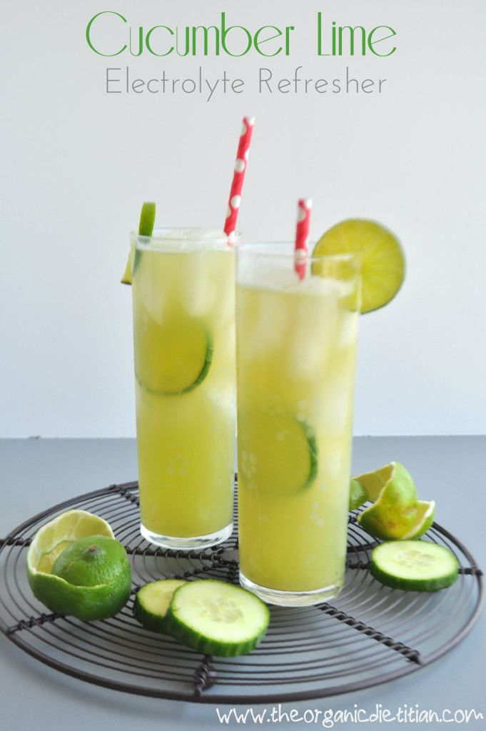 Lime Cucumber Electrolye Drink your sports drink replacement. No sugar. No artificial colors. All natural. www.theorganicdietitian.com