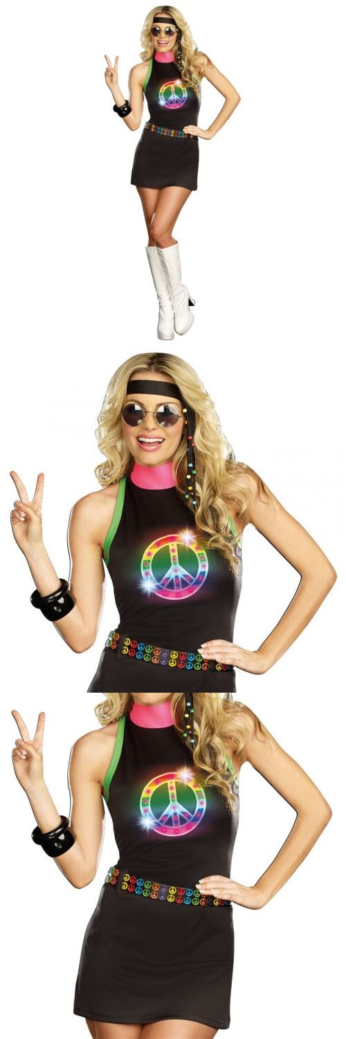Halloween Costumes: Hippie Costume Adult 60S-70S Halloween Fancy Dress Outfit BUY IT NOW ONLY: $30.19