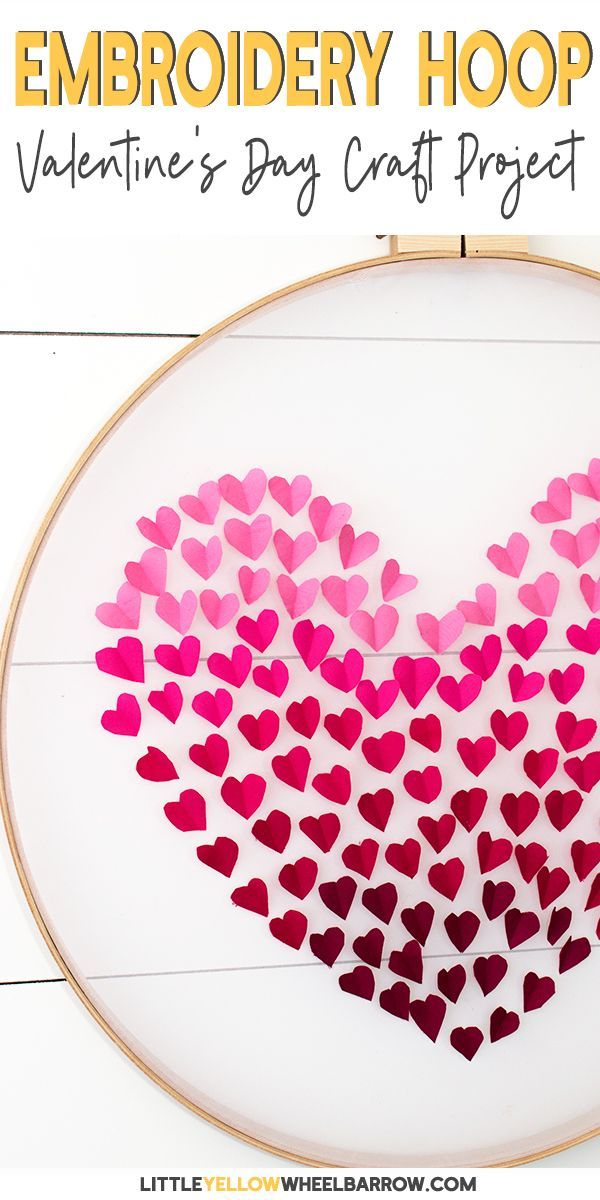 Diy Embroidery Hoop Wall Hanging For Valentine S Day Valentine
