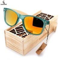 Venta caliente Famosa Marca de la mujer gafas de Sol de Madera De Bambú Original Viajero concha de Tortuga gafas de sol en Caja de Regalo