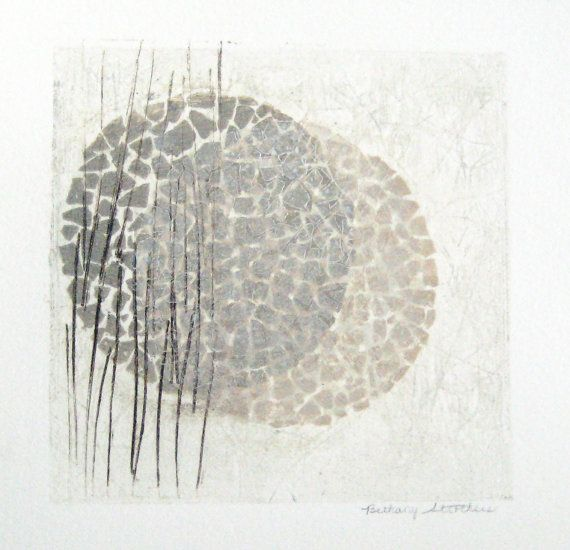 Original Collograph Print Interwoven in 11 x от BethanyStrothers