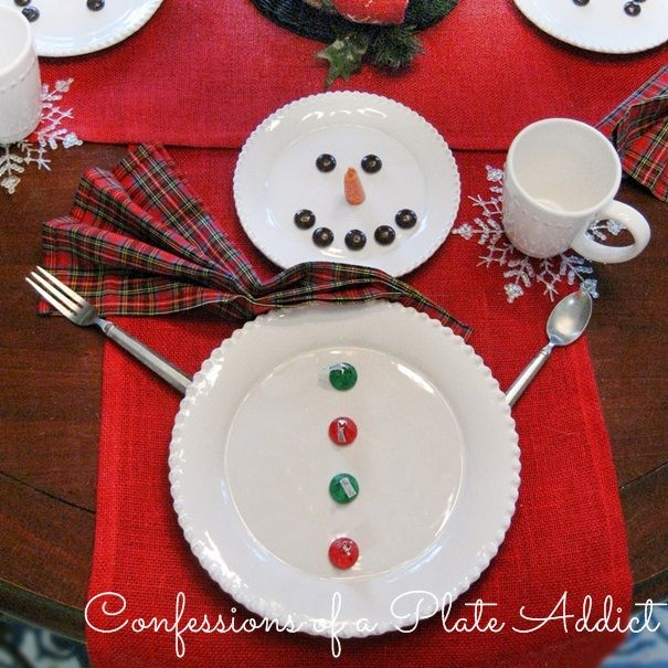 CONFESSIONS OF A PLATE ADDICT Fun and Easy Snowman Tablescape