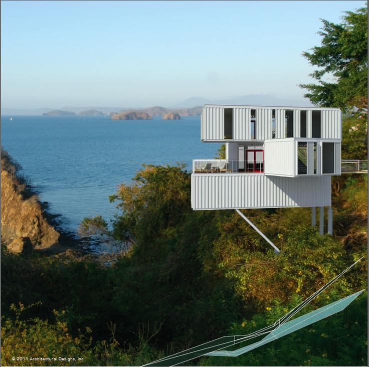 A container design home/studio for off the grid remote locations.