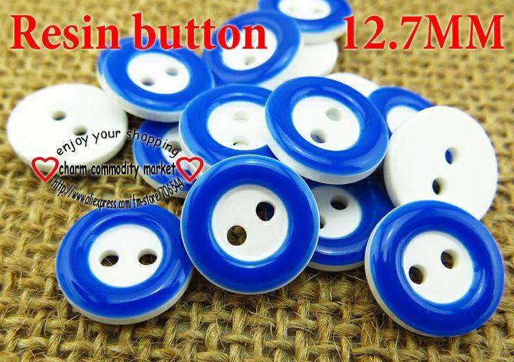 200PCS Sapphire resinic button12.7MM kids coat buttons bulk clothes accessories crafts fit R-133-11 $2,98