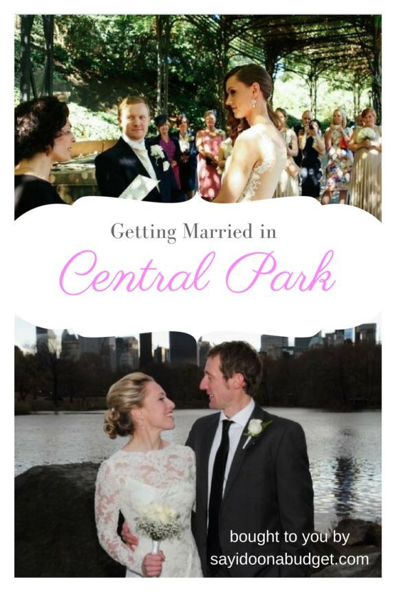 getting married in Central Park on a budget