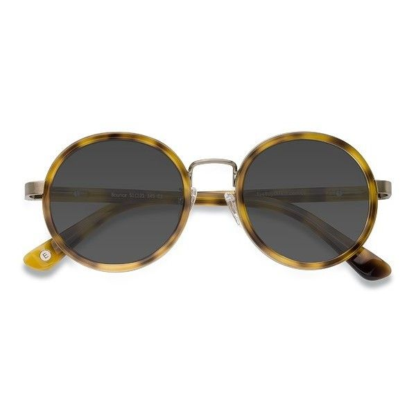 Women's Bounce - Tortoise round metal - 17859 Rx Sunglasses ($35) ❤ liked on Polyvore featuring accessories, eyewear, sunglasses, tortoise shell glasses, retro style sunglasses, metal sunglasses, retro glasses and round tortoiseshell sunglasses