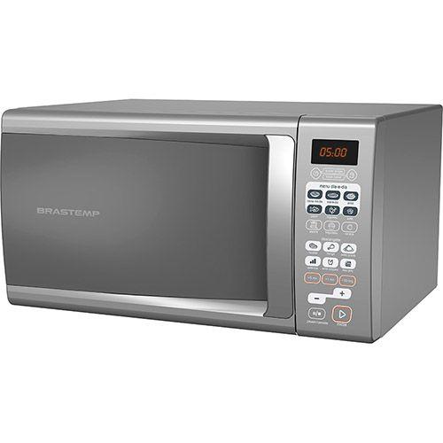 Microondas Brastemp Função Adiar Preparo 30 Litros - Cinza BMA30A